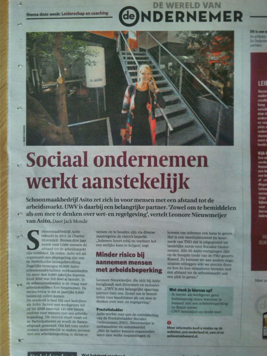 In de media: Asito, Sociaal ondernemen in de praktijk
