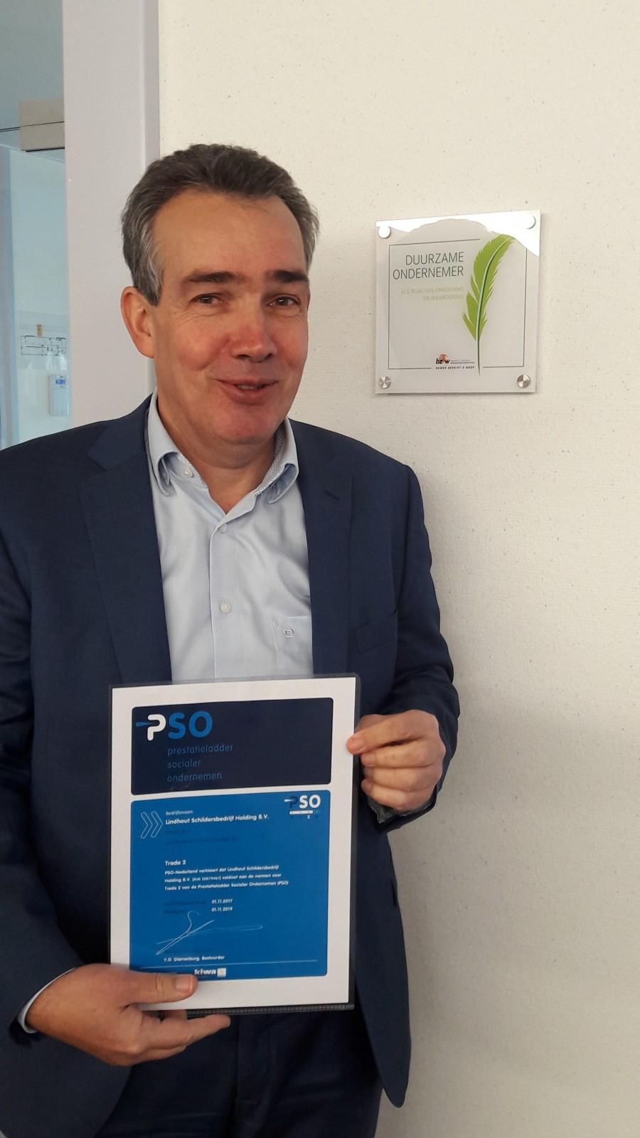 Lindhout Schilder- Vastgoedonderhoud behaalt Trede 2 op de PSO Prestatieladder