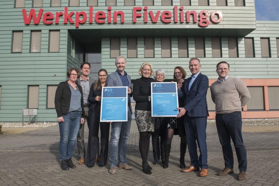 Werkplein Fivelingo behaalt als eerste organisatie in Noord-Nederland trede 3|30+ op de Prestatieladder Socialer Ondernemen