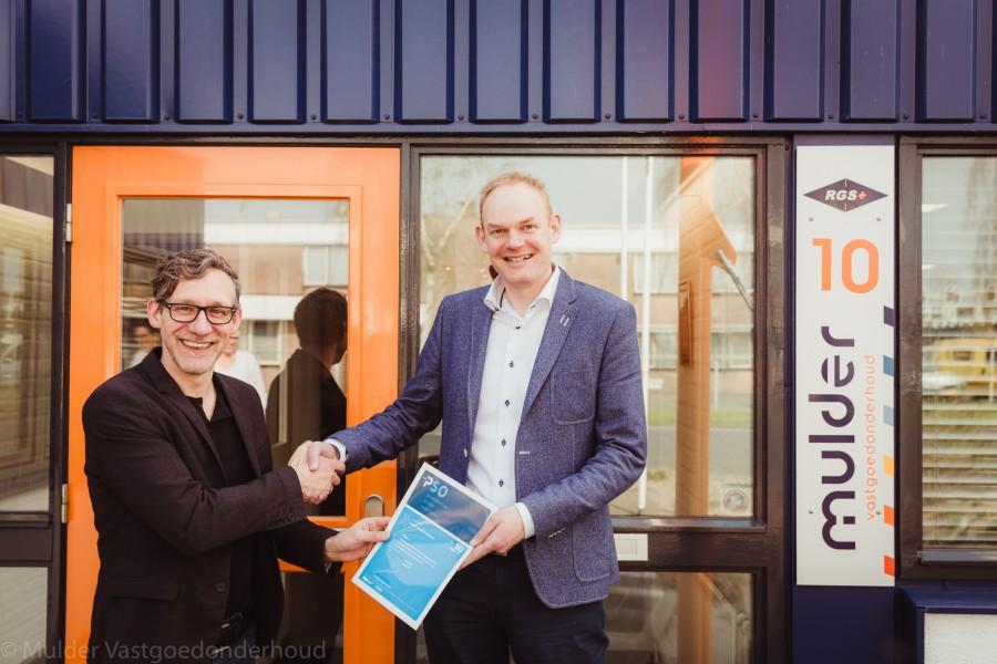 Mulder Vastgoedonderhoud ontvangt als derde organisatie in de bouwbranche in Almelo het PSO certificaat voor socialer ondernemen.