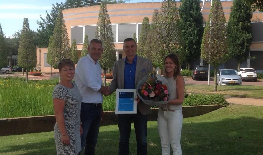 Wethouder Braamhaar reikt PSO-certificaat uit aan Grootgroener B.V.